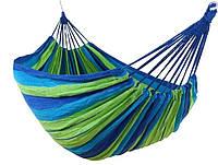 Туристический гамак подвесной тканевый Stenson R83127, 150х200 см, нагрузка до 150 кг, разноцветный