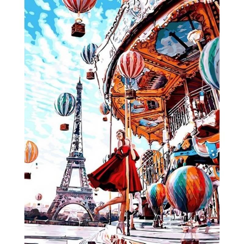 Картина рисование по номерам Babylon Прекрасный Париж. Вера 40х50см VP1015 набор для росписи, краски, кисти,