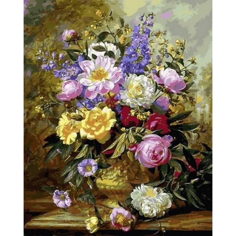 Картина рисование по номерам Babylon Цветочное великолепие III 40х50см VP1058 набор для росписи, краски,