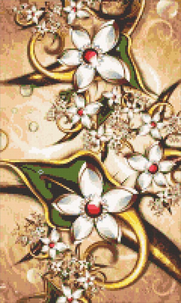Алмазная мозаика Винтажные цветы DM-309 30х50см Полная зашивка. Набор алмазной вышивки цветы
