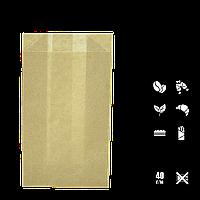 Бумажный пакет без ручек крафтовый 170х100х50мм (ВхШхГ) 40г/м² 100шт (116/612/1196), фото 1