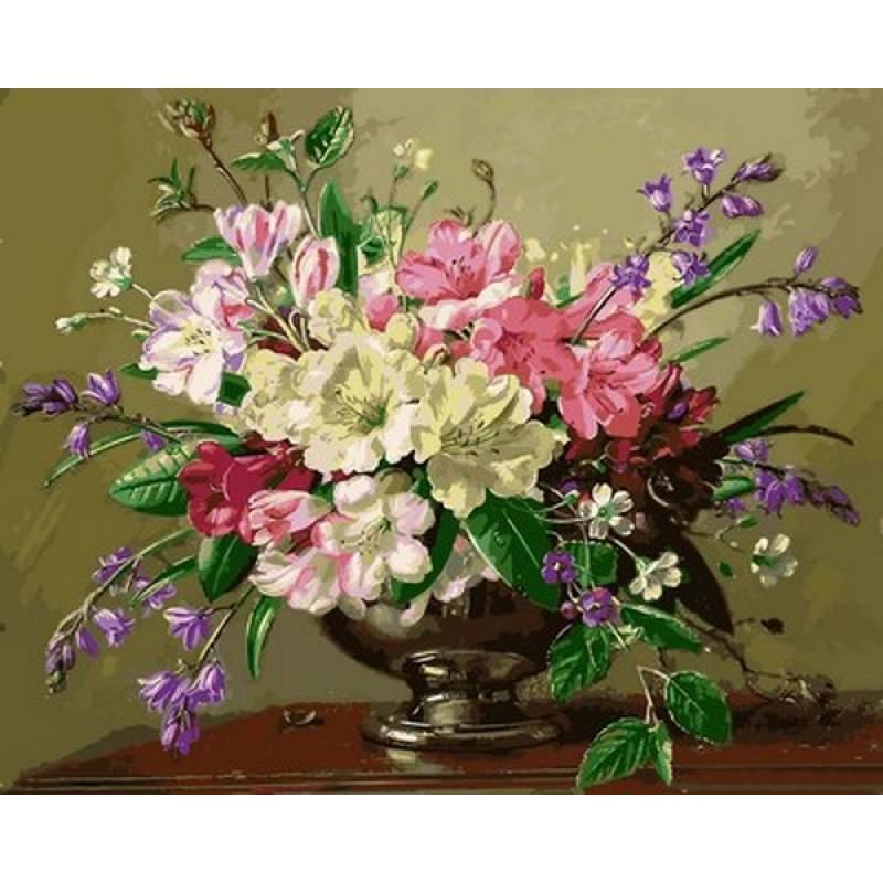 Картина рисование по номерам Mariposa Натюрморт с весенними и летними цветами 40х50см Q2161 набор для росписи,