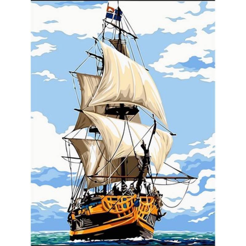 Картина рисование по номерам Babylon Фрегат Этуаль де Рой 30х40см VK055 набор для росписи, краски, кисти,
