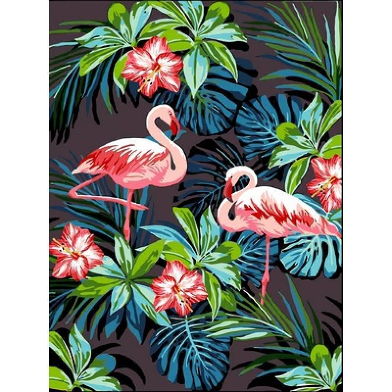 Картина рисование по номерам Babylon Фламинго 30х40см VK187 набор для росписи, краски, кисти, холст