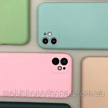 Цветной силиконовый чехол для Apple