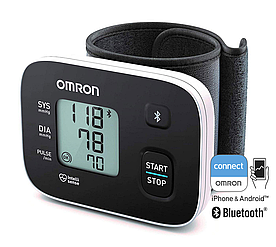 OMRON RS3 Intelli IT - Тонометр автоматический с манжетой на запястье (13,5-21,5см), передача на смартфон