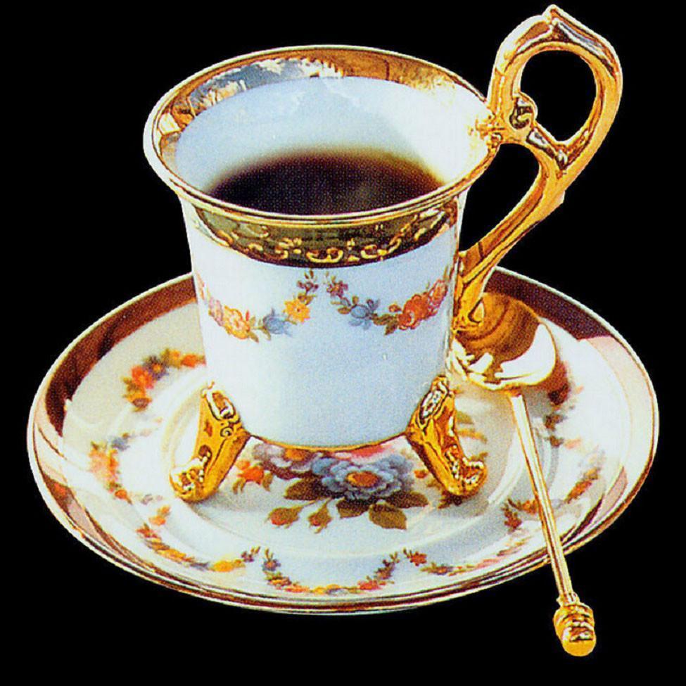 Алмазная мозаика Чашка ароматного кофе 40x40см DM-118 Полная зашивка. Набор алмазной вышивки