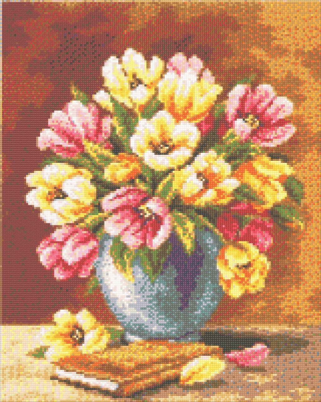 Алмазная мозаика Ваза с тюльпанами 40x50см DM-207 Полная зашивка. Набор алмазной вышивки