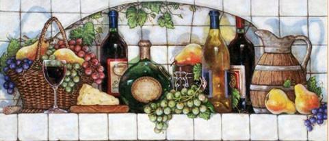 Алмазная мозаика Фруктовые вина 70x30см DM-050 Полная зашивка. Набор алмазной вышивки