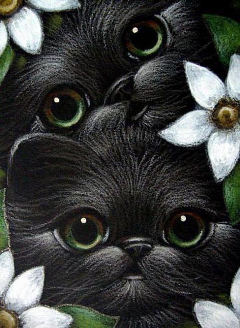 Алмазная мозаика Зеленоглазые котята DM-342 30х40см Полная заш набор алмазной вышивки животные