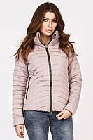 Женская демисезонная куртка короткая пудра LS-8822-10