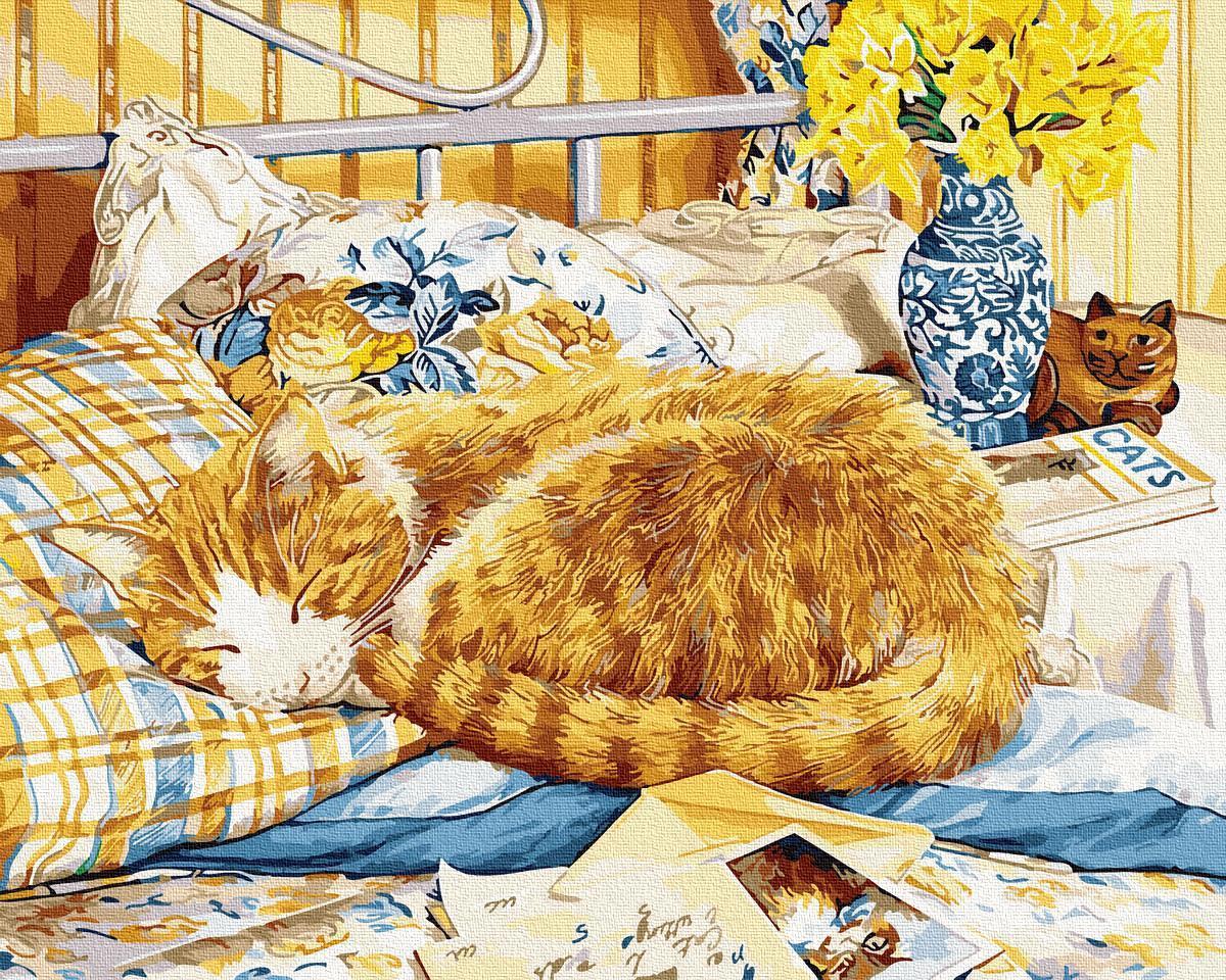 Картина рисование по номерам Котик-сонько GX34054 40х50см     BK-GX34054 40x50см 40x50смнабір для розпису,