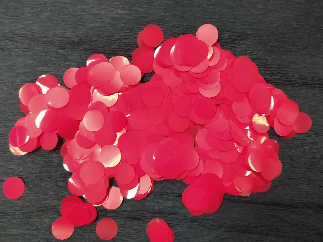 Аксесуари для свята конфеті кружечки червоний 12х12мм 100грам