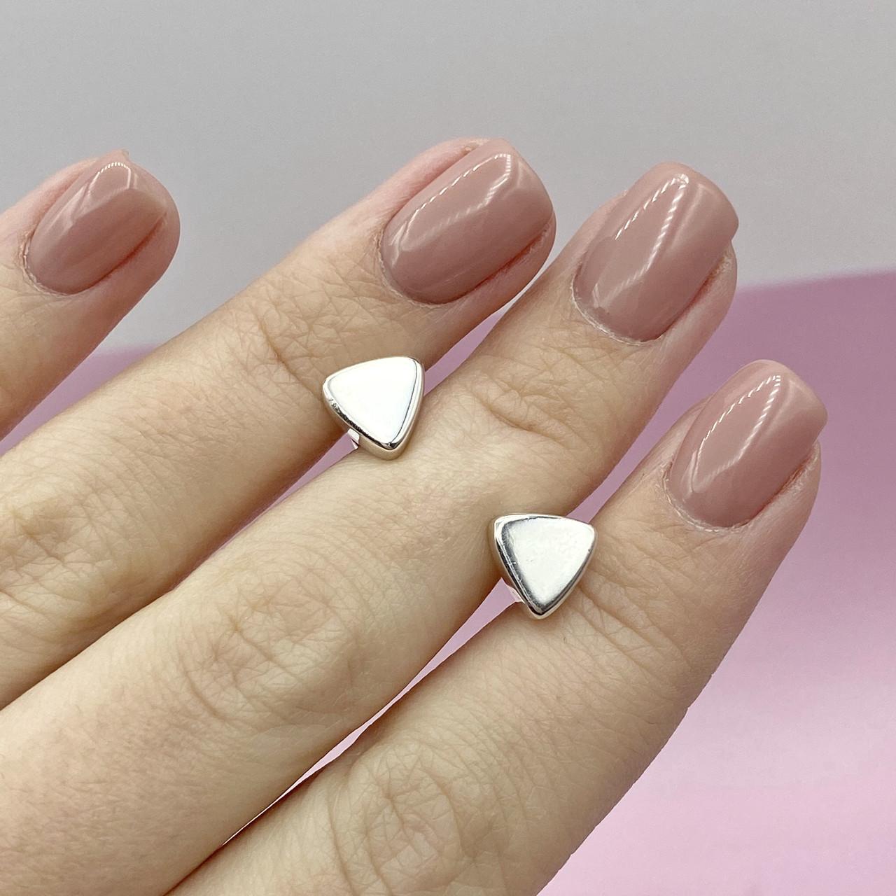 """Срібні сережки - пуссети """"Трикутники"""""""