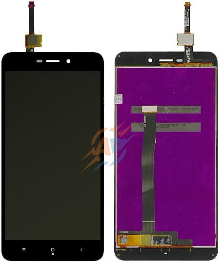 Дисплей и сенсор (дисплейный модуль) для Xiaomi Redmi 4a черный+ подарок