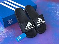 Сланцы/шлепки/шлепанцы/Adidas/ адидас/черные