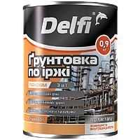 """Грунтовка по ржавчине ПФ-010М TM """"Delfi"""" (черная) 0,9 кг"""