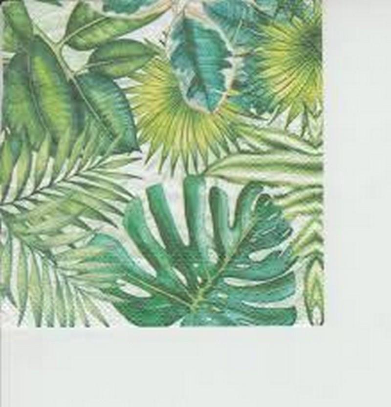 Серветки для декупажу 33 * 33 см, двошарові Пальмовий лист 20шт/уп