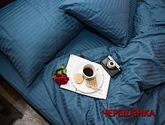 Двуспальный набор постельного белья 180*220 из Страйп Сатина №544032 KRISPOL™