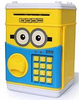 Сейф-копилка детский Cartoon Box 7030 с кодовым замком, миньон, фото 2