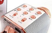 Караоке-микрофон портативный Wster WS-1688, розово-золотой, фото 2