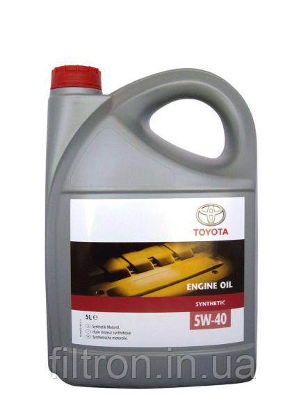 Моторное масло Toyota Engine Oil  5W40 5л