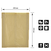 """Пакет бумажный """"БУРО КОРИЧНЕВЫЙ"""" Цельный. 250*200*50 (уп/100шт), фото 1"""