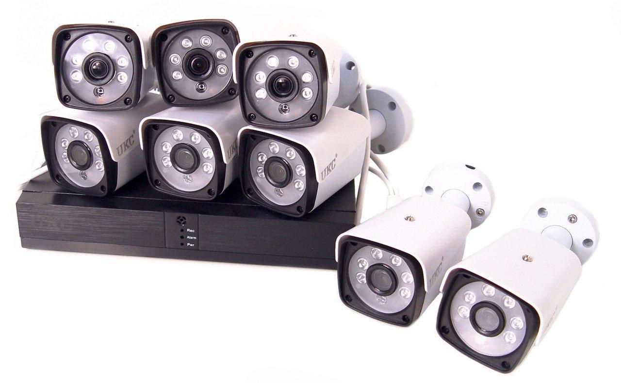 Комплект видеонаблюдения беспроводной DVR KIT CAD Full HD UKC 5519 на 8 камер