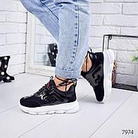 Кроссовки женские в стиле Gucci черные