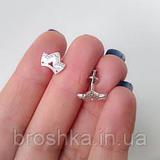 Серебряные серьги в виде короны, фото 3