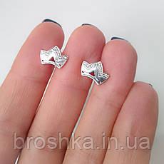 Серебряные серьги в виде короны, фото 2