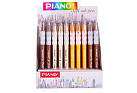 Ручка масляна PIANO 0,5 мм синя корпус мікс кольорів