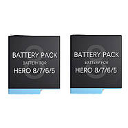 Набор: Зарядное устройство на два места + два аккумулятора AHDBT-801 для GoPro HERO8 Black, фото 2
