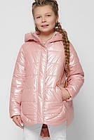 Детская демисезонная куртка для девочки розовая DT-8299-15