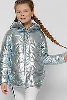 Детская демисезонная куртка для девочки серебро DT-8299-11