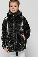 Детская демисезонная куртка для девочки черная DT-8299-8
