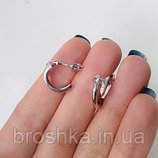 Серебряные серьги в виде гвоздя с камнями, фото 2