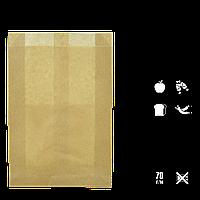 Бумажный пакет без ручек крафтовый 390*270*70 (ВхШхГ) 70г/м² 100шт (100), фото 1