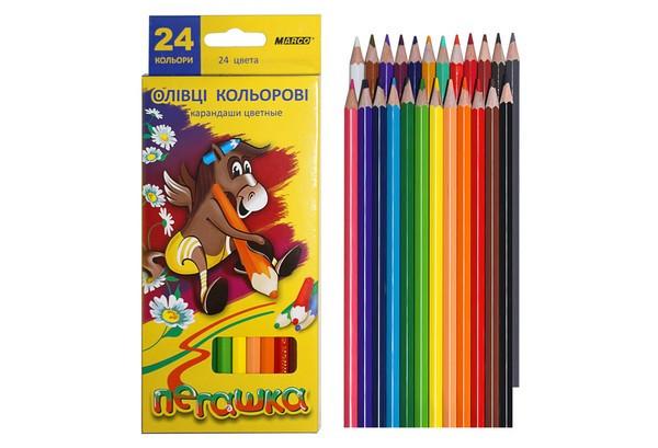 Олівці кольорові MARСO Пегашка 24 кольори