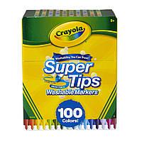 Фломастеры Crayola Смываемые Washable Super Tips Markers 100 шт 58/5100