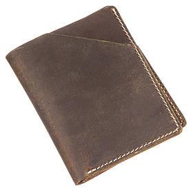 Бумажник матовый Vintage 20121 Темно-коричневый