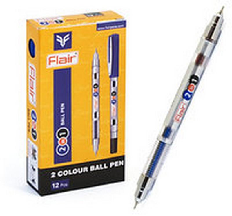Ручка FLAIR кулькова 2 в 1 синє-чорна