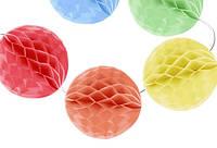 Розтяжка 12 кульок по 10 см в діаметрі 4м двоколірні