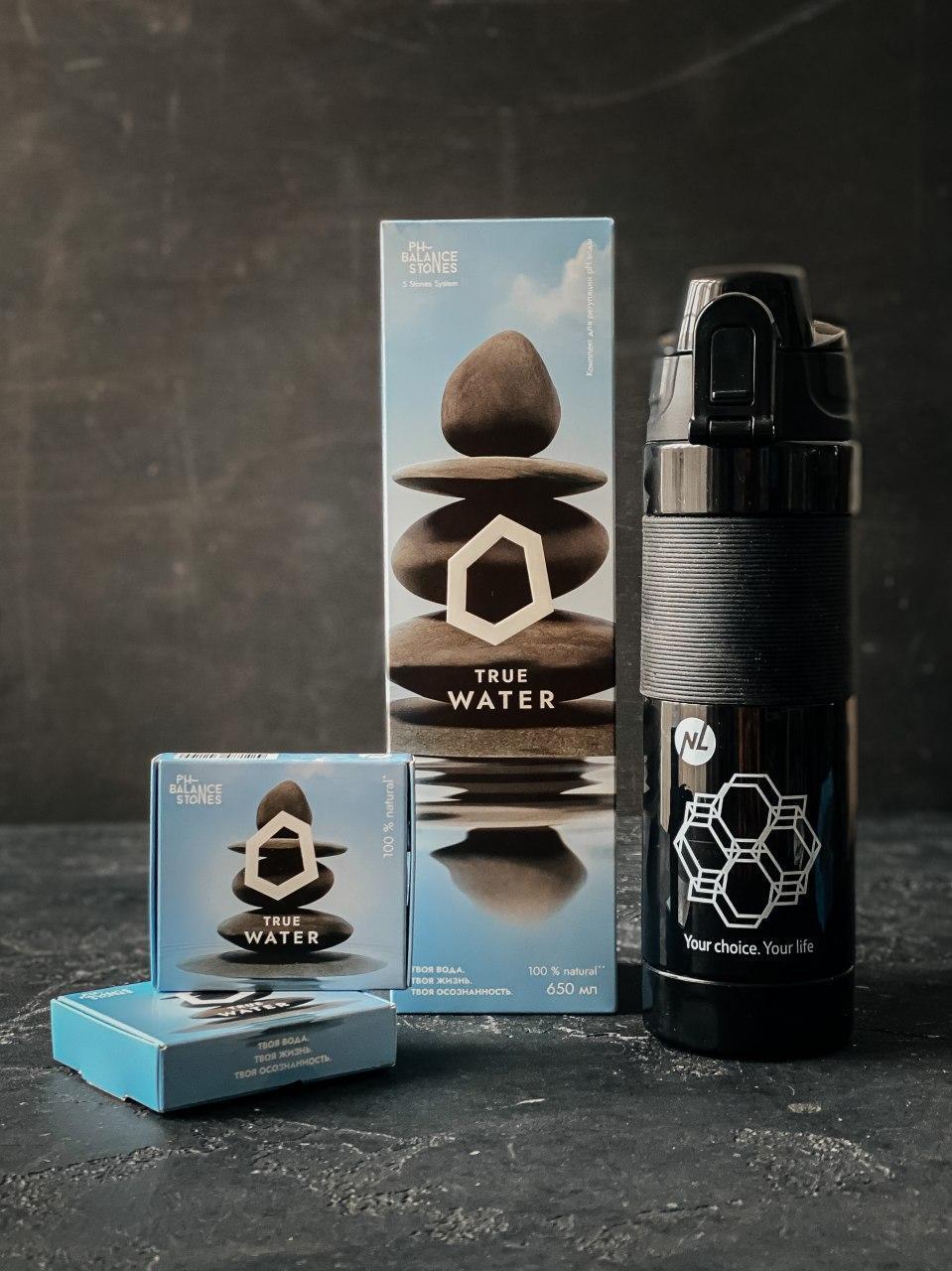 Для воды Бутылка ДЛЯ ОЩЕЛАЧИВАНИЯ  воды (устройство + картридж)  комплект PH Balance Stones,обьем 650 мл