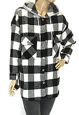 Сорочка жіноча в клітинку з капюшоном, фото 3