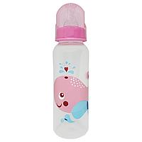 Бутылочка с соской (250 мл.)(розовая)