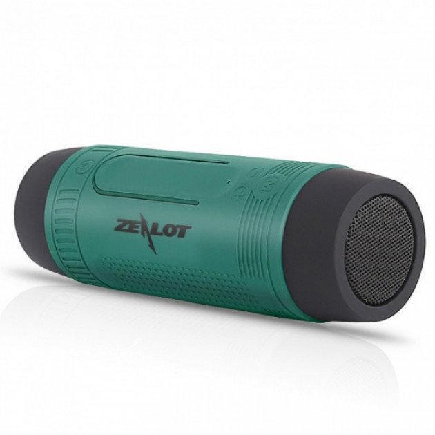 Колонка музыкальная Zealot S1 power bank, зеленая