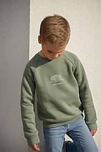 Детский теплый батник свитшот для мальчика 4-5 лет, 104-110 см
