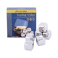 Камені для віскі Kamille охолоджувальні кубики з нержавіючої сталі KM-7793