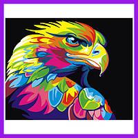 Картины по номерам, Радужный орёл, Рисование по номерам картины по номерах